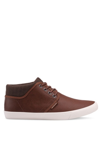 Jack & Jones brown Vince Mid Top Sneakers D60A6SHC89603DGS_1