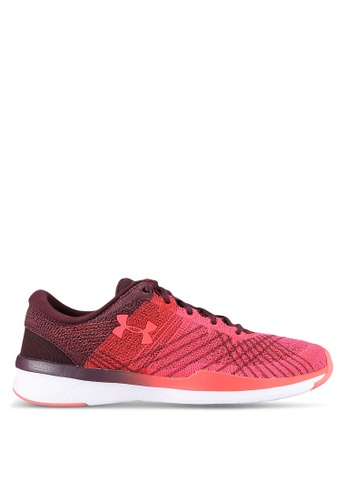 Under Armour red UA Women Push TR Threadborne Shoes UN337SH0RUF5MY_1