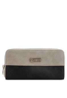 UNISA Quilted Fashion Colour Block Ladies Zip-Up Wallet