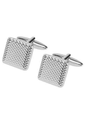 CUFF IT silver Silver Grid Cufflinks C0847AC29C3BEBGS_1