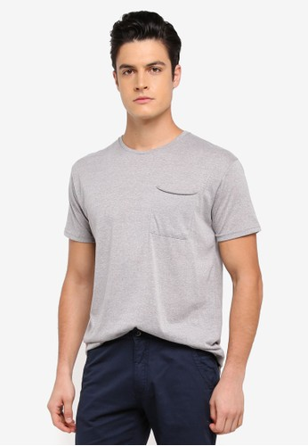 Factorie grey Shaded Curve Pocket Tee B6879AA329D20DGS_1