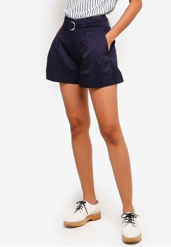 Hopeshow navy Shorts With Belt 721F0AAE698339GS_1