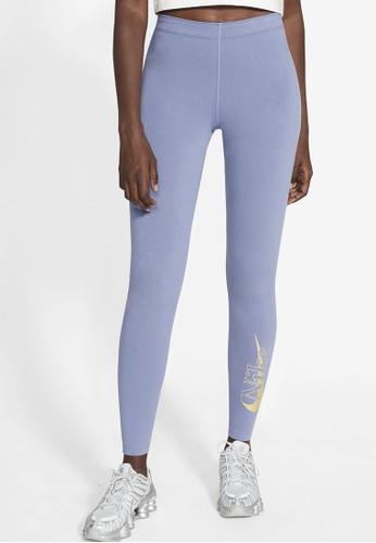 Nike blue AS Women's Sportswear Icon Clash Tights 52DF3AAB542134GS_1
