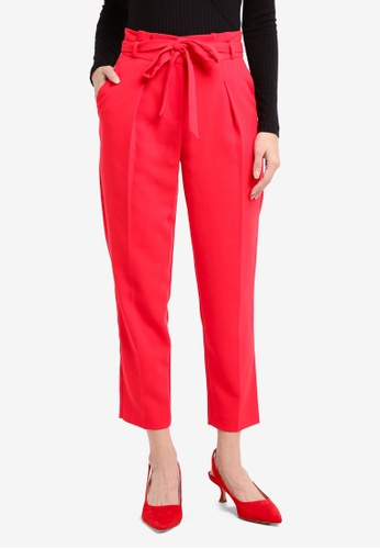 Miss Selfridge red Red Paperbag Trousers FA895AA5E14728GS_1