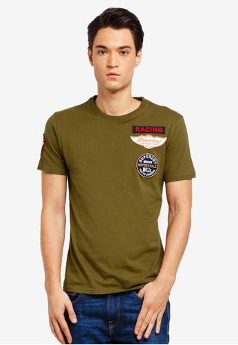 Superdry green Plane Flyers Tee FE0F4AAD9EB4A5GS_1