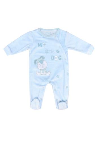 Babybol blue Long Sleeve Romper 2B3B0KA0FA4D6DGS_1