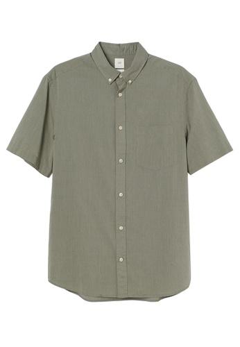 H&M green Regular Fit Cotton Shirt 27685AAAF0CEEDGS_1