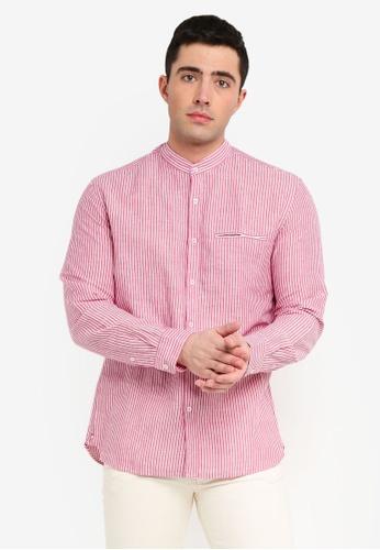 d44e0ef111 Buy MANGO Man Regular-Fit Cotton Linen-Blend Shirt Online on ZALORA  Singapore