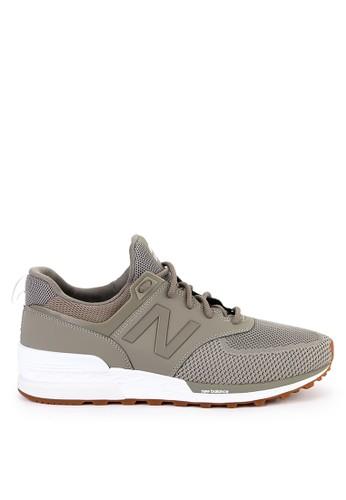 New Balance grey 574 Sport CBE4BSH02AAB1FGS_1