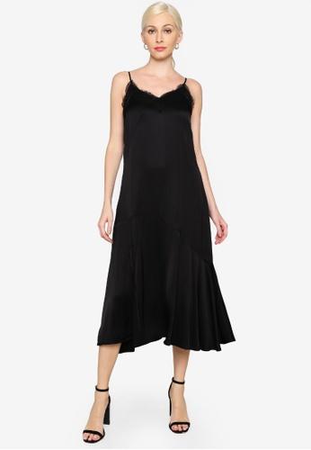 Hopeshow black Spaghetti Straps Lace Long Dress F6202AABB3F80FGS_1