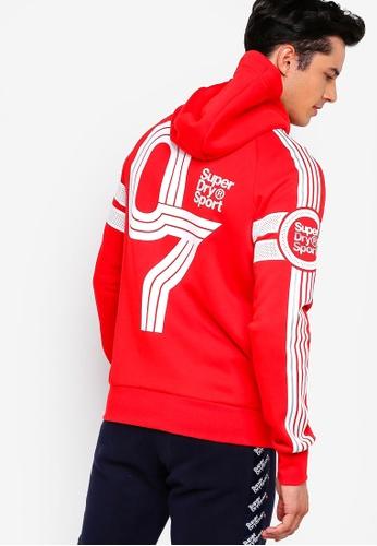 Superdry 紅色 印花連帽外套 5C04BAA8838BA6GS_1
