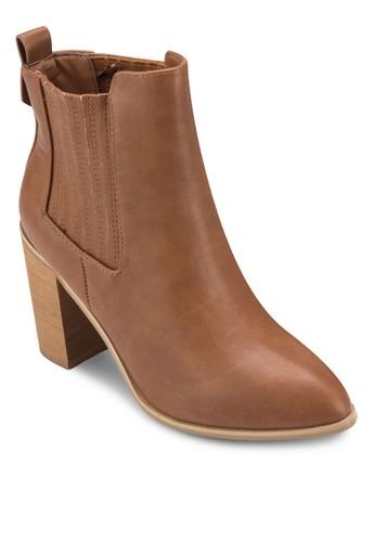 Jamie 羅紋粗跟踝esprit女裝靴, 女鞋, 鞋