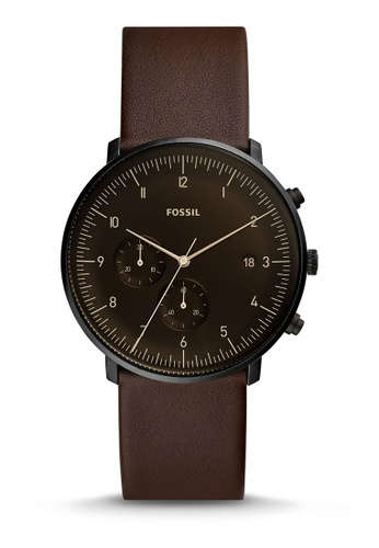 Fossil brown Chase Timer Chronograph Watch FS5485 128C0AC598248DGS_1