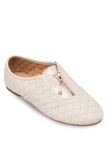 菱格拉鍊平底鞋, 女鞋, esprit童裝門市鞋