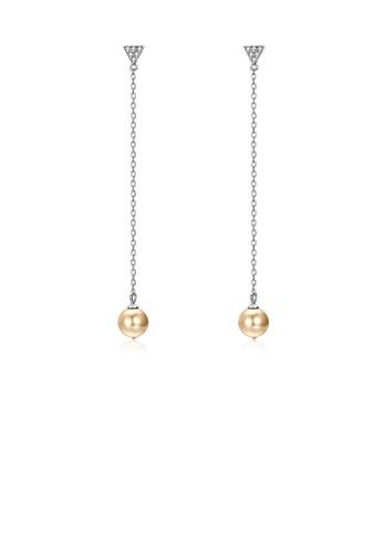 Buy Glamorousky Simple 925 Sterling Silver Pearl Earrings Zalora Hk