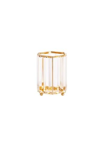 DILAS HOME Geometric Crystal Effect Glass Holder (Hexagon) 26AA4HLB1FAB2FGS_1