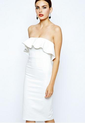 Sunnydaysweety white New Ruffle White One Piece Dress UA03243 SU219AA0HAD5SG_1