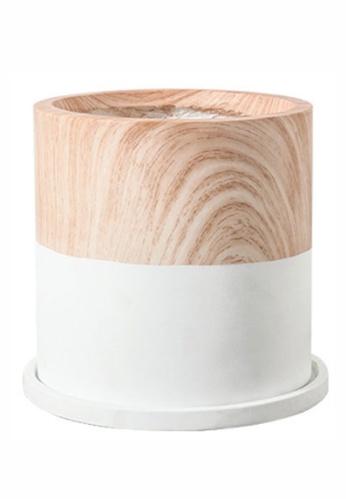 RETAIL THERAPY PH white Wood Grain Ceramic Pot White 17*17 770F0HL7658A59GS_1