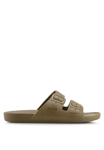 Freedom Moses brown Basics Turtle Sandals 3DCA6SH8867637GS_1