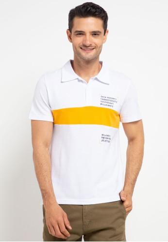 XXMAKE white and multi XXC101 White  T-Shirt Polo Pria 45F6EAAEF18ED5GS_1