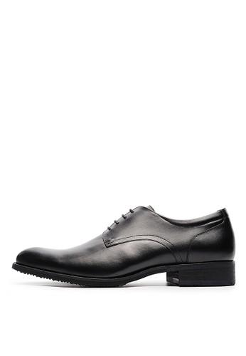 MIT經典品味。頂級頭層NAPPA牛皮德比鞋-04699-黑色,esprit 香港 outlet 鞋, 皮鞋