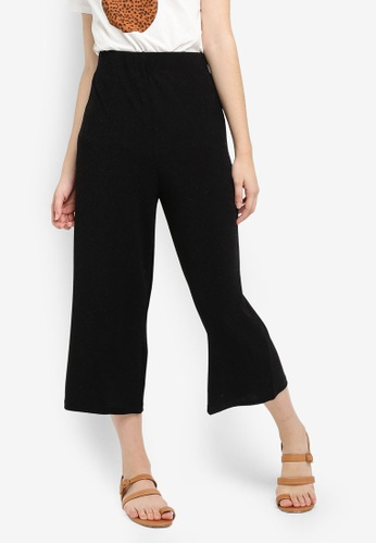Cotton On black Marlee Luxe Culottes DBC76AA8E17DD9GS_1