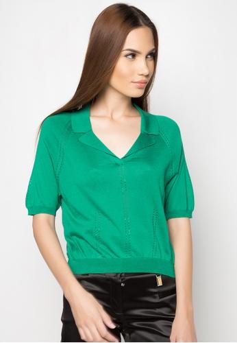 Dolce & Gabbana green Cropped Polo DA093AA55TOQPH_1
