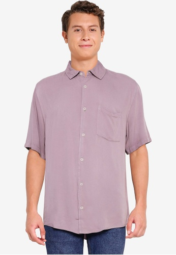 Cotton On pink Cuban Short Sleeve Shirt 0B233AAD3A9F3FGS_1