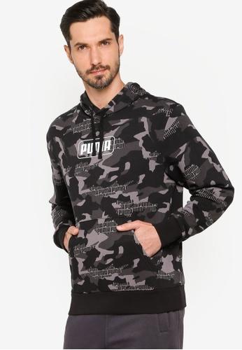 PUMA 黑色 Rebel Camo All Over Print TR Men's Hoodie 74DF9AA965ABB8GS_1