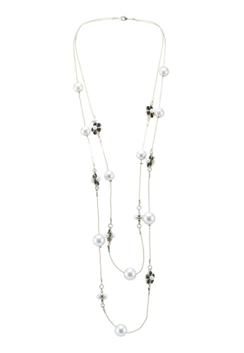 Red's Revenge black dainty daisy long pearl necklace 55852ACE26818BGS_1