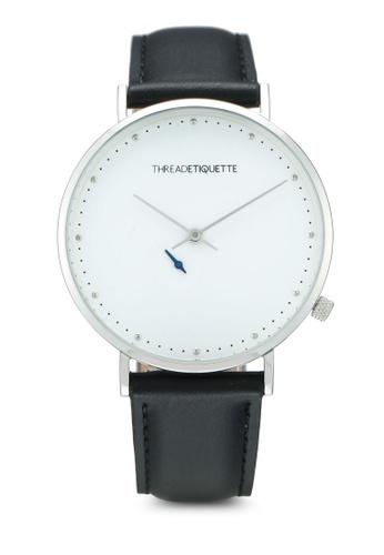 Thread Etiquette black Chrono-Silver/White Face Black Timepiece 0CBEEACFE4E5C8GS_1
