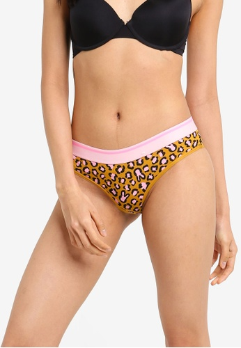 Cotton On Body brown and pink and yellow Sporty Femme Brasiliano Brief 8B44CUS466B1E6GS_1