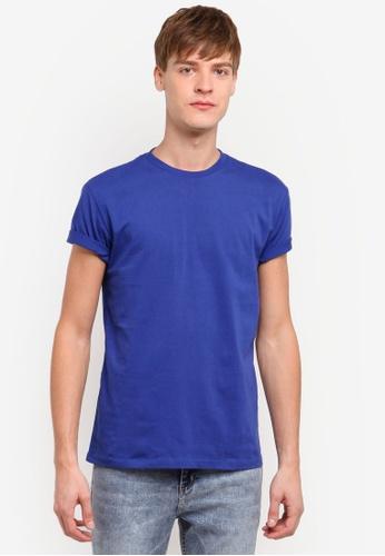 Penshoppe blue Relaxed Fit Tee PE124AA0RMHYMY_1