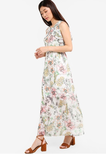 Dorothy Perkins white Petite Floral Maxi Dress DO816AA75POYMY_1