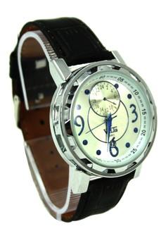 Valia Reagan Leather Strap Watch 8205-1