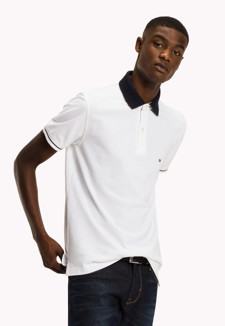 BRIGHT Tommy REGULAR Hilfiger WHITE 1985 POLO wUgpv