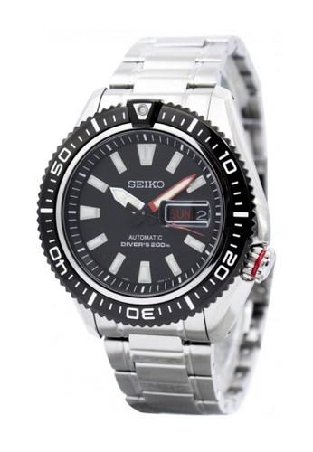 SEIKO silver Jam Tangan Pria Seiko Divers SRP495 Strap Stainless Steel  Silver 50F97AC51E7E75GS 1 3b2ed586e3