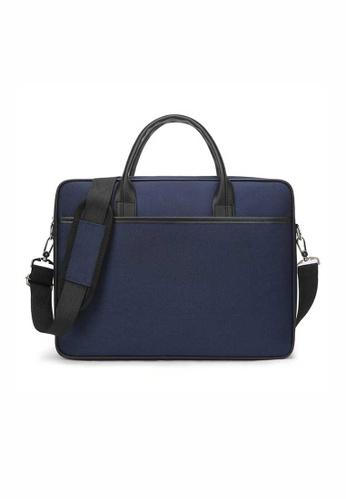 Lara blue Men's Water-repellent Nylon Zipper Computer Bag - Blue 56B0CAC09A3537GS_1