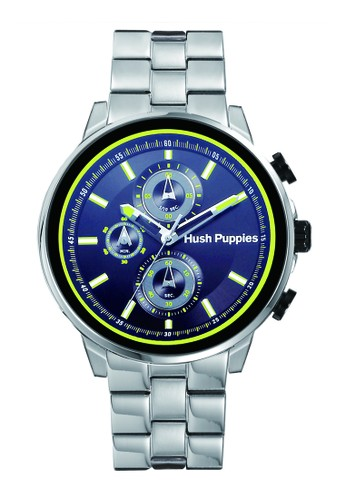 Hush Puppies Freestyle Chronograph Men's Watch HP 6062M.1511 Black Yellow Silver Stainless Steel