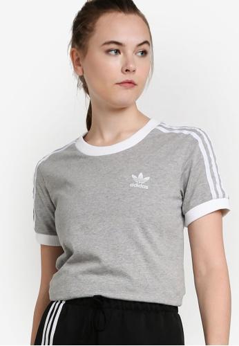 adidas 3 stripe t shirt womens