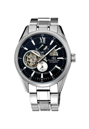 Orient silver Orient Star Semi Skeleton Power Reserve ORSDK05002B Automatic Stainless Steel Bracelet Watch 41652AC4513DB0GS_1