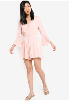 50e9bded3e 56% OFF Something Borrowed Flare Sleeves Playsuit S  35.90 NOW S  15.90  Sizes XS S M XL