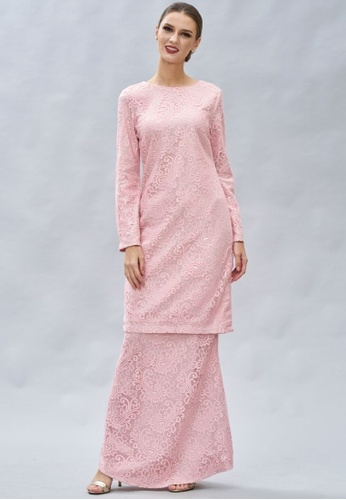 Loveaisyah pink Paisley Lace Modern Baju Kurung 1B527AA51B5FA8GS_1