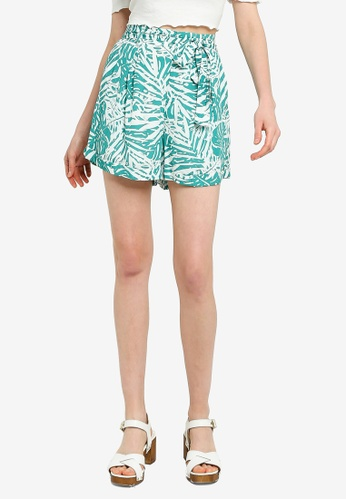 Mink Pink white and green Feeling Fresh Shorts B3C7FAA0F31228GS_1