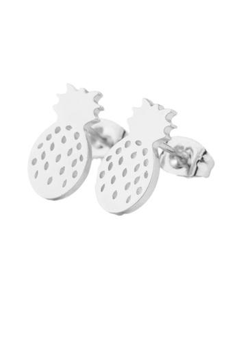 Kings Collection silver Sweet Pineapple Earrings (KJEA20054) 98B8EAC41B07A5GS_1