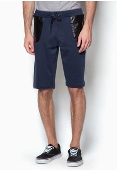 PU Patch Pocket Sweat Shorts