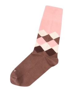 Cube Brown Peach Socks
