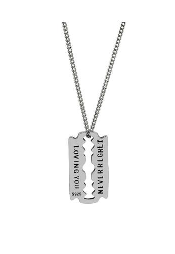 LYCKA silver LDR1214 S925 Silver Retro Blade Necklace EEE20AC5E33BD5GS_1