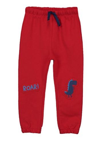 LC Waikiki red Baby Boy's Printed Jogger Trousers 392A9KA4781035GS_1