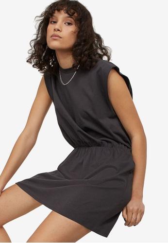H&M grey Jersey Dress AA587AAB9D1519GS_1